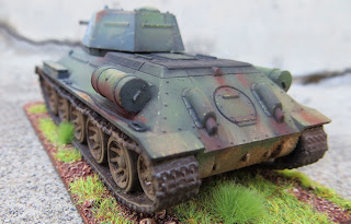 Plastic Soldier Company Soviet T-34 PSC 1/72 scale rear of tank