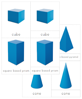The Helpful Garden: Geometric Solids Nomenclature Cards
