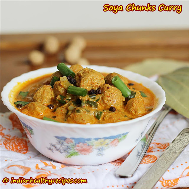 Soya Chunks Curry | Meal Maker Curry