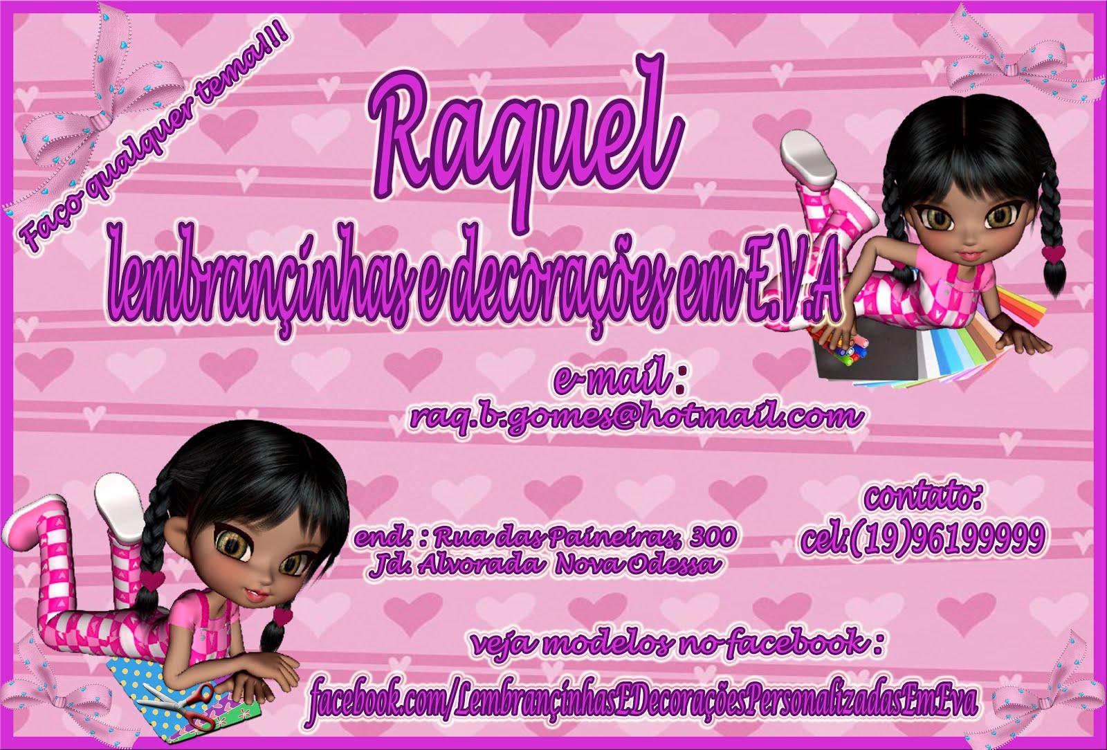 Raquel lembrançinhas e decorações personalizadas em E.V.A