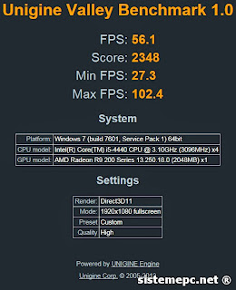 benchmark Gigabyte R9 270 OC