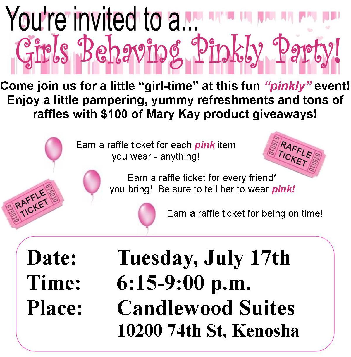 Great Mary Kay Party Invitation Wording Ideas Invitation Card