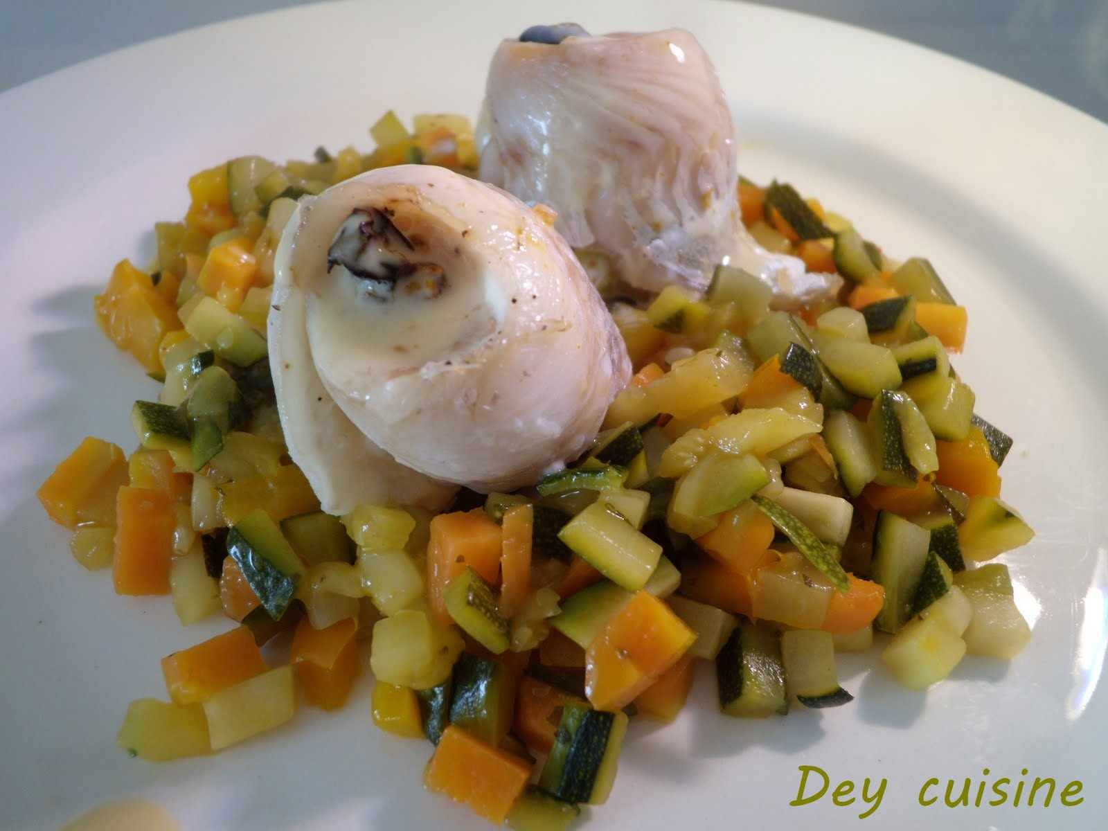 Dey cuisine roulades de poisson l gumes la for Poisson cuisine