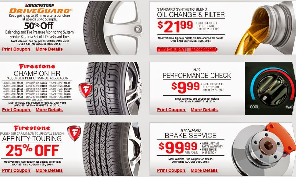 Firestone Printable Coupons August 2015
