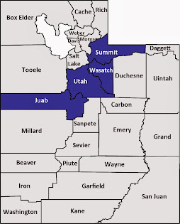 Juab, Summit, Utah and Wasatch counties