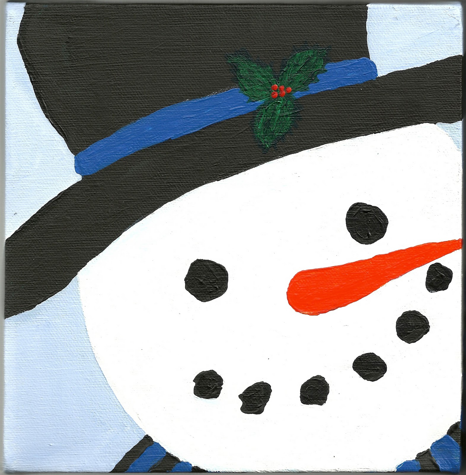 To be determined paint party friday week 38 a for How to paint snowmen