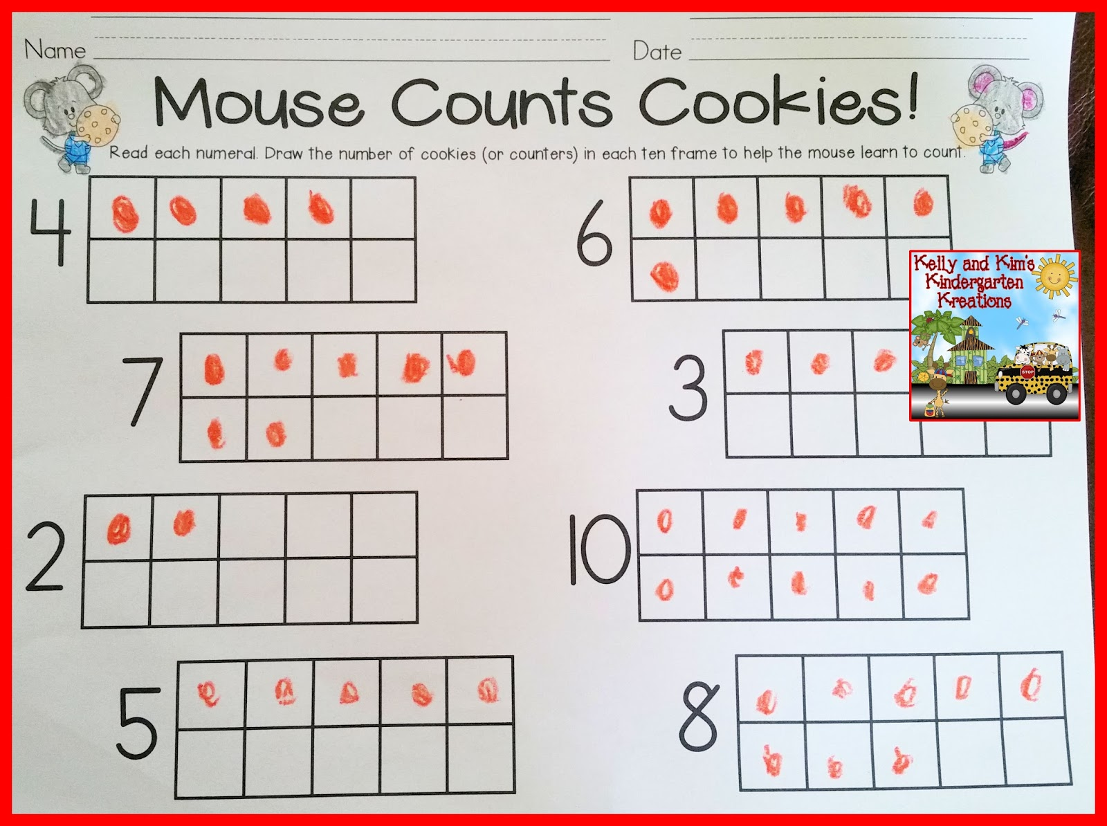 this assessment teach mouse to count shows childrens ability to count a set of objects and match the correct numeral children will count or subitize