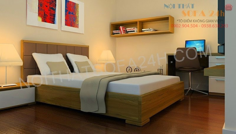 Giường ngủ GN083