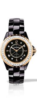 Relógio preto e dourado da Chanel tendencia 2015