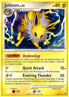 Jolteon Pokemon Card Rising Rivals Set