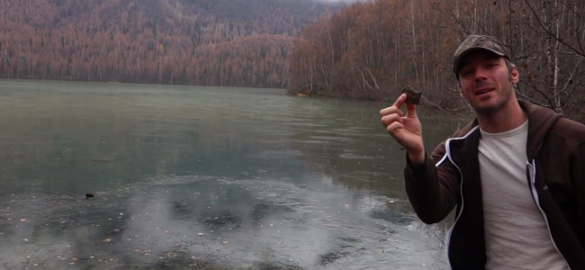 This Guy Threw A Rock Into A Frozen Lake. You MUST Hear The Bizarre Sound It Made.