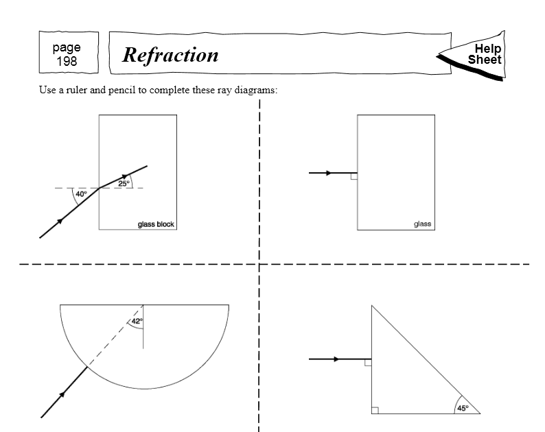 refraction worksheet Termolak – Reflection and Refraction Worksheet