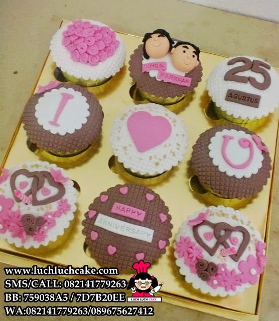 Cupcake Anniversary Simply Cute Daerah Surabaya - Sidoarjo