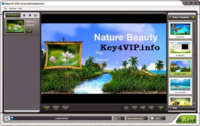 iSkysoft DVD Creator 3.0 + Templates, Tạo Menu DVD chuyên nghiệp và ghi DVD số 1