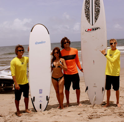 Private surf lessons at Boca Beach Club.