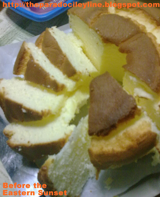 Sliced mamon cake