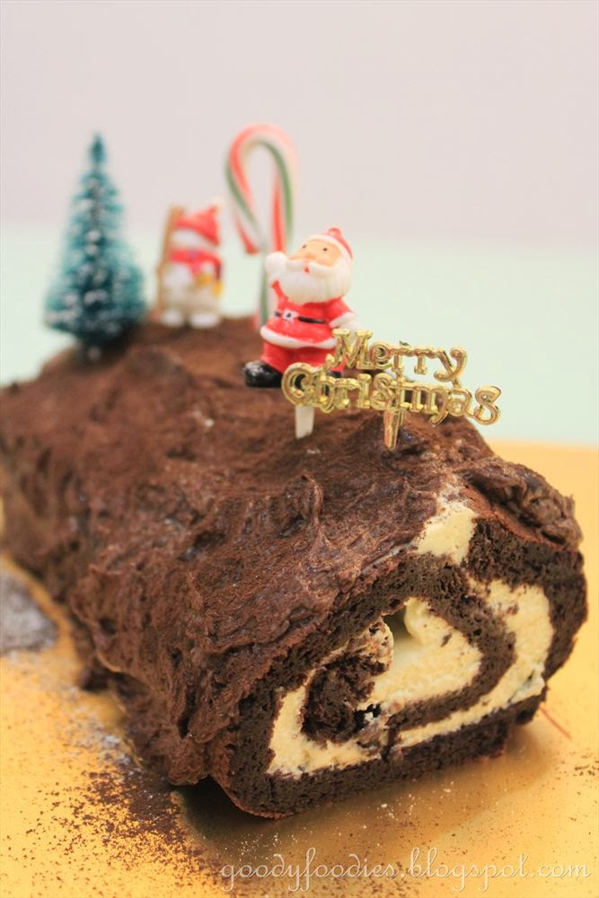 Christmas Yule Log Cake Recipe