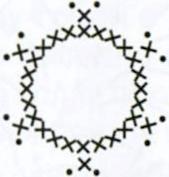 Египетский комплект бижутерии: Колье, связанное крючком, схемы вязания