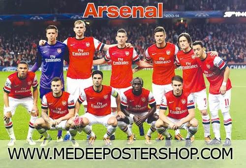 ARSENAL 2013-2014 Poster
