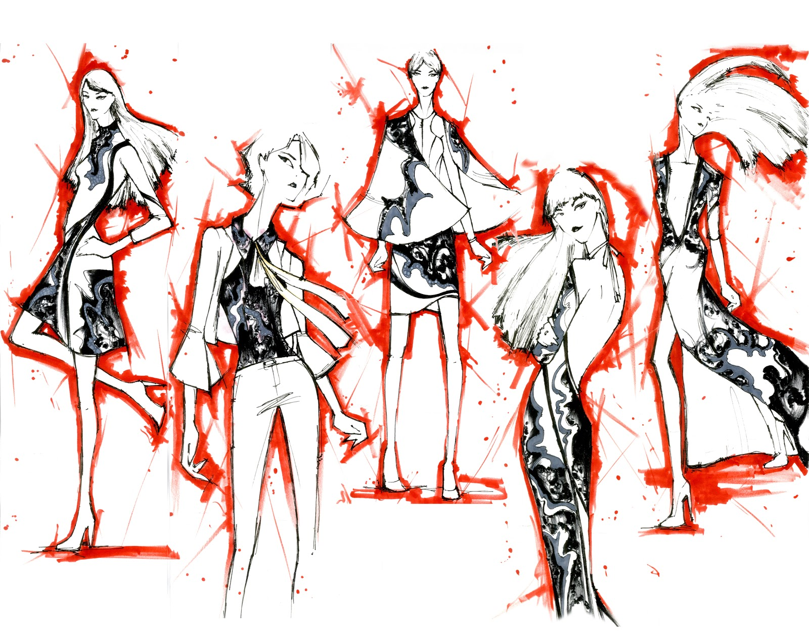 fashion illustration competitions fashion design unt winning students at the 2012