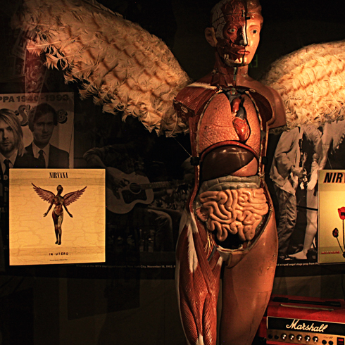 nirvana exhibit at EMP museum in seattle washington