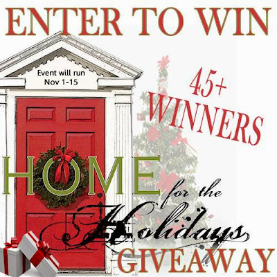 Enter the Home for the Holidays Giveaway. 60+ Prizes. Ends November 15.