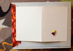 Place flowers face down onto paper
