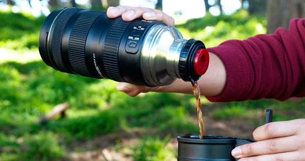 Nikon Camera Thermos Lens and a Zoom Mug