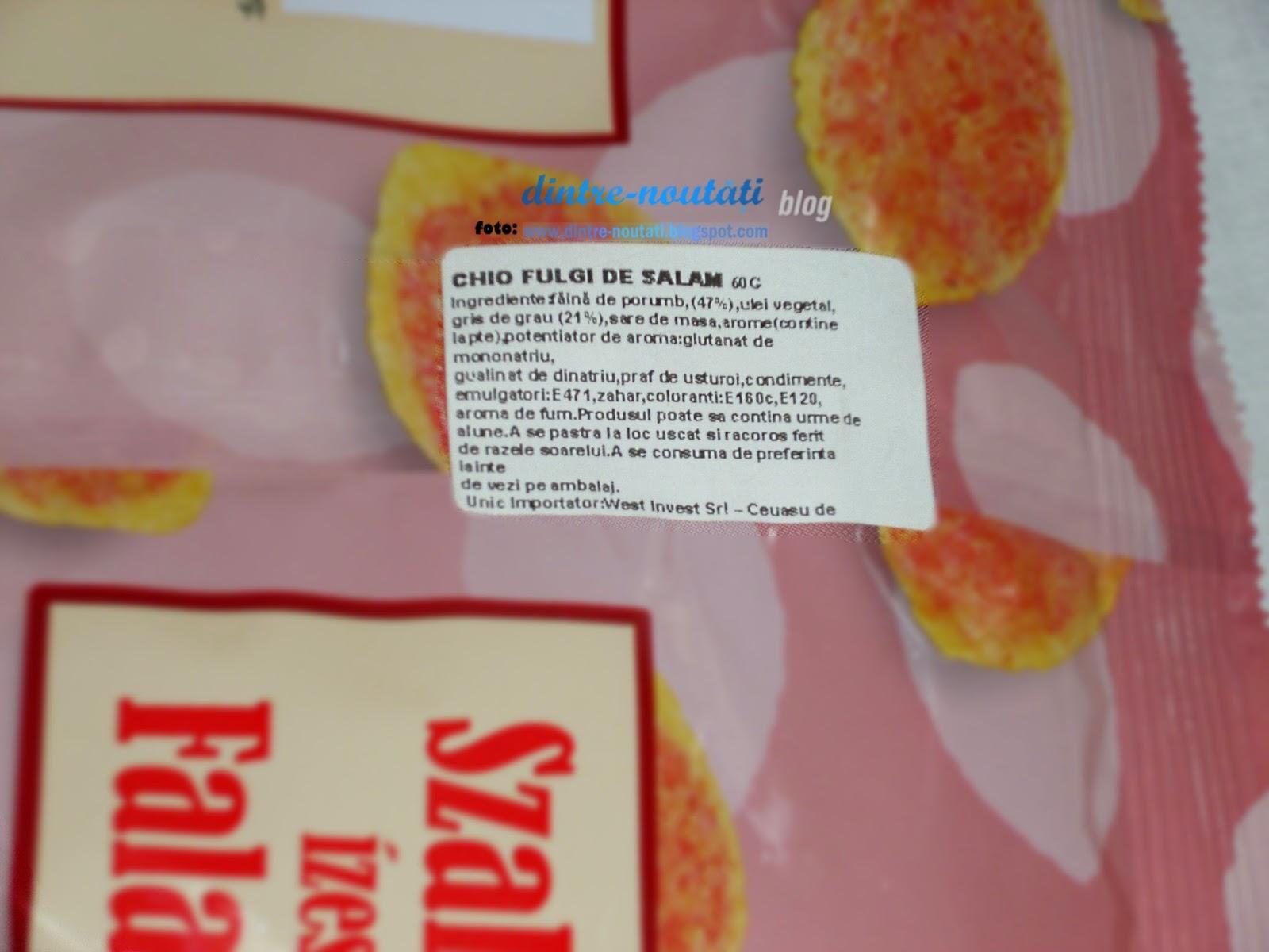 Snacks-uri din Ungaria cu aromă de salam HU