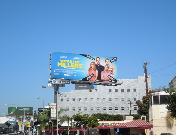 Were The Millers movie billboard