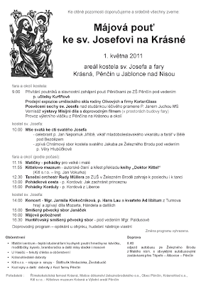 Májová pouť ke sv. Josefovi na Krásné 2011 - plakát