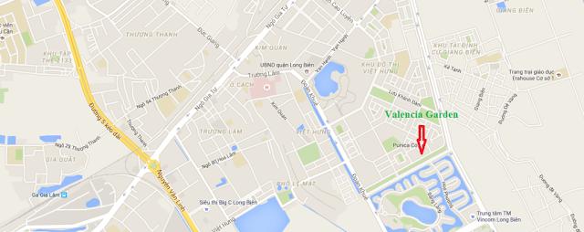 Vị trí dự án Valencia Garden