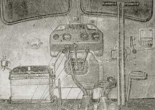 Органы управления и контрольные приборы трактора ХТЗ Т-74