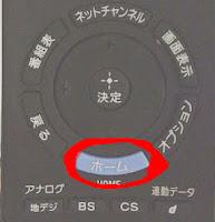 SONY BRAVIAのリモコンのホームボタンとはコレのこと.