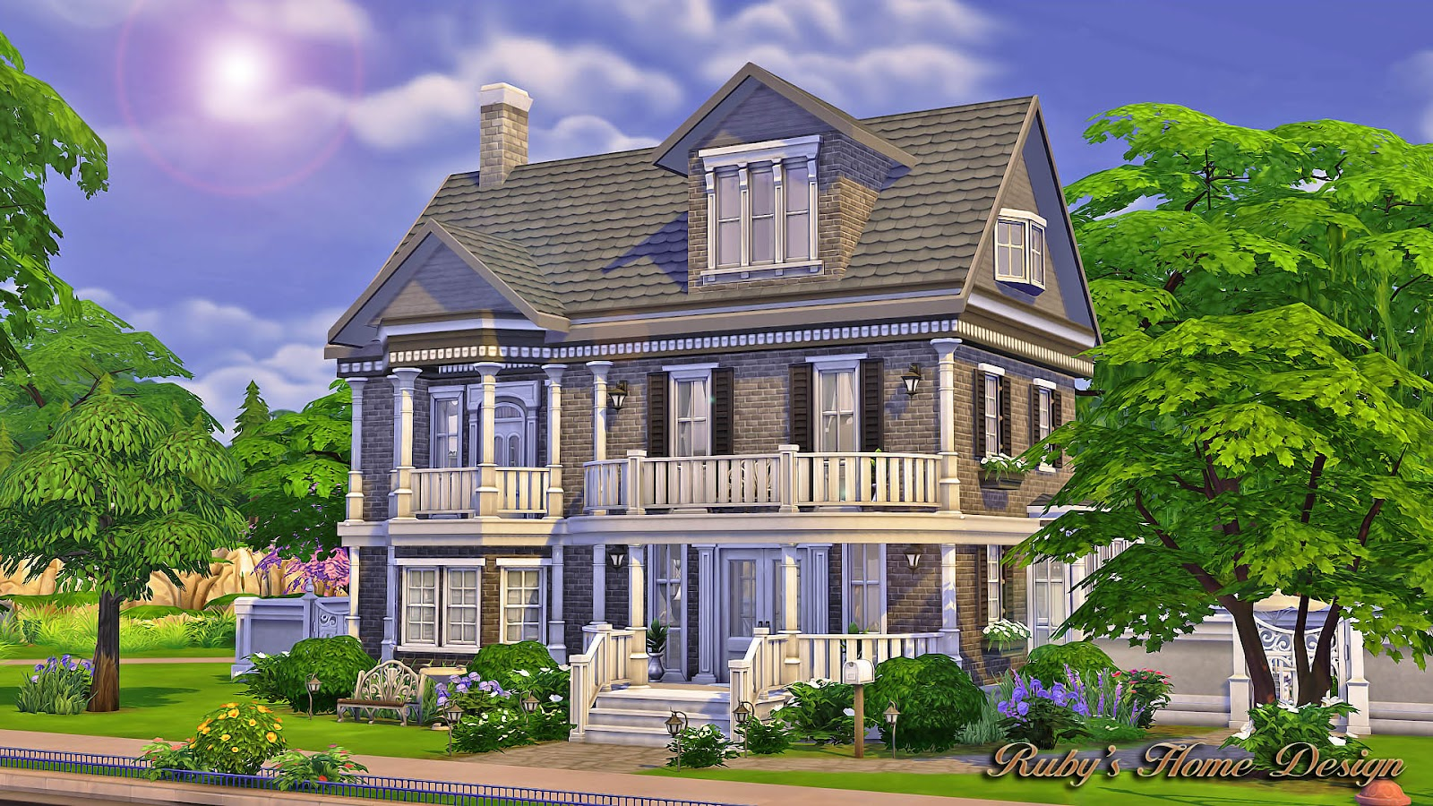 Sims4 the chocolate house no cc ruby 39 s home design for Sims 4 house plans