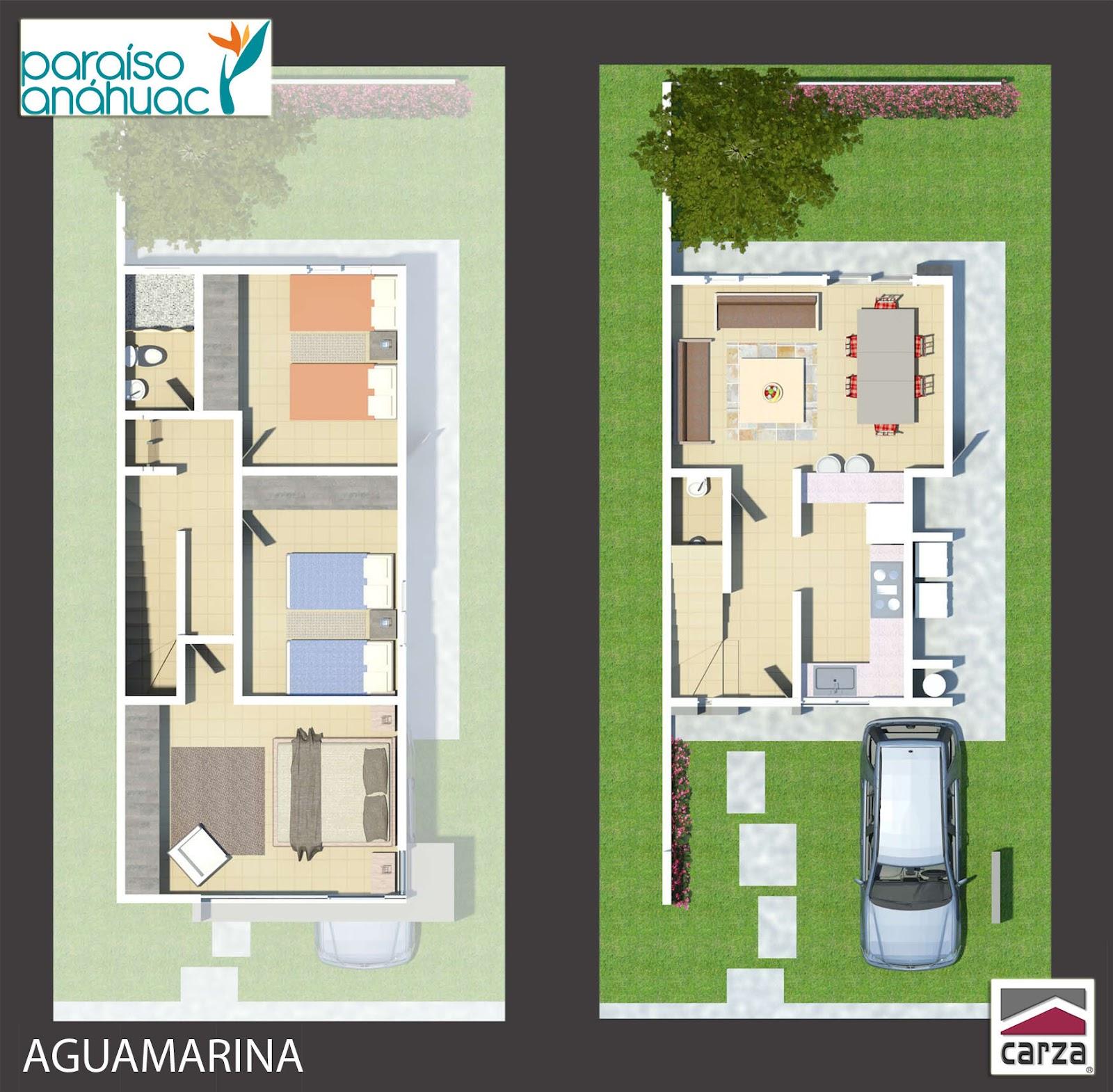 Planos de casas y plantas arquitect nicas de casas y for Casa minimalista 6 x 12