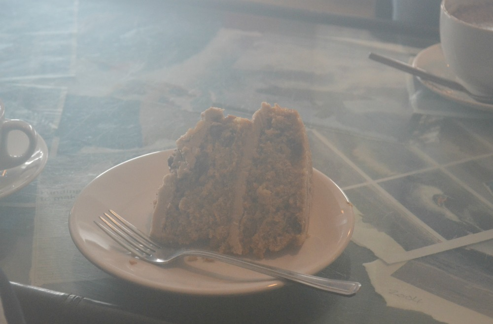 coffee walnut giant sponge cake cafe thurso