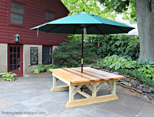That 39 S My Letter DIY Outdoor Trestle Dining Table
