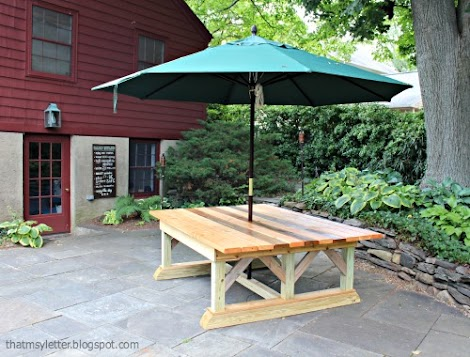 Ideal Jaime from That us My Letter and I collaborated on this oh so massive outdoor dining table