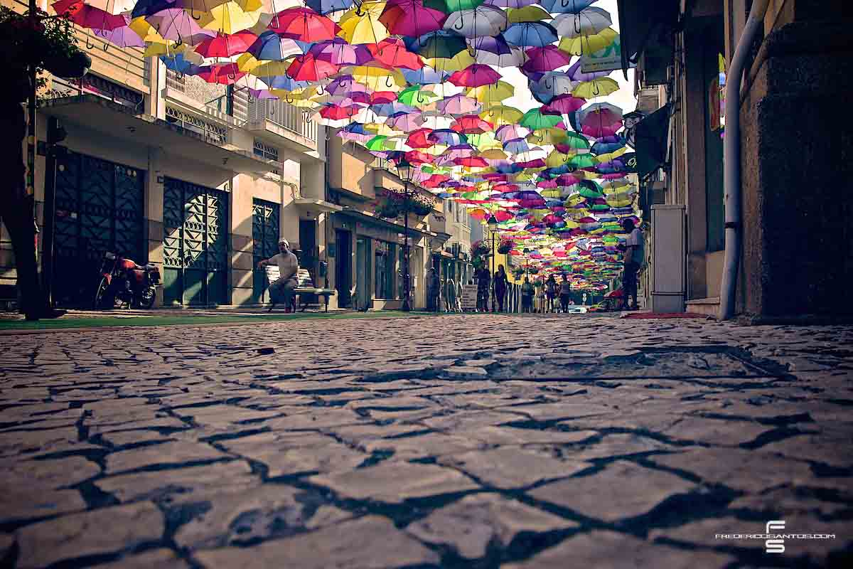 Agueda Portugal umbrellas guarda chuva colours