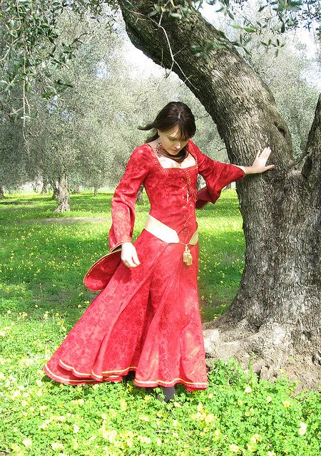 Red Medieval Wedding Dresses Photo