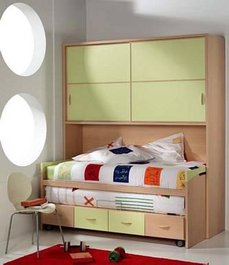 Dormitorio juvenil moderno que ahorra espacio by dormitorios.blogspot.com