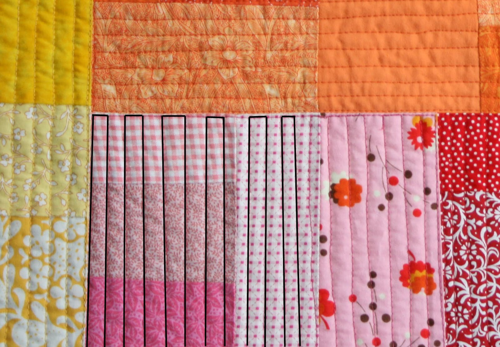 Drawing Lines For Quilting : Crazy mom quilts straight line quilting with a free