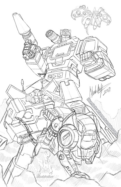soundwave generation1 gen1 sketch illumistrations rumble laserbeak ravage transformers decepticons