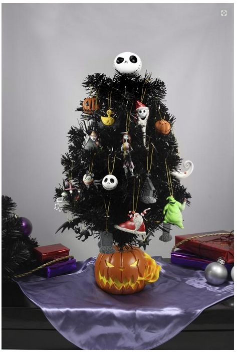 20 tall nightmare before christmas tree halloween town dioroma with 20 ornaments by neca on sale at amazon and ebay
