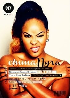 Emma Nyra Covers The November 2014 Edition Of VL! Magazine Nigeria