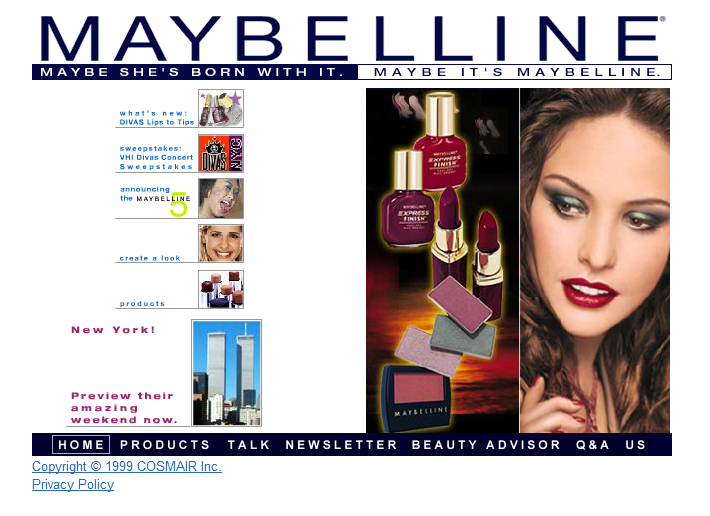 Maybelline en 1999