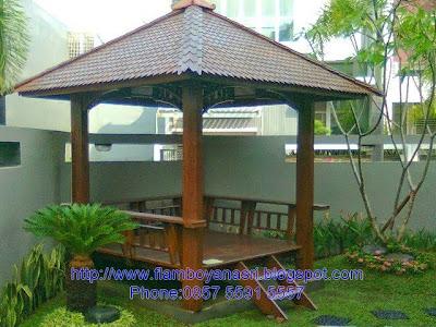 Tukang Taman Surabaya Gazebo Rumah Depan