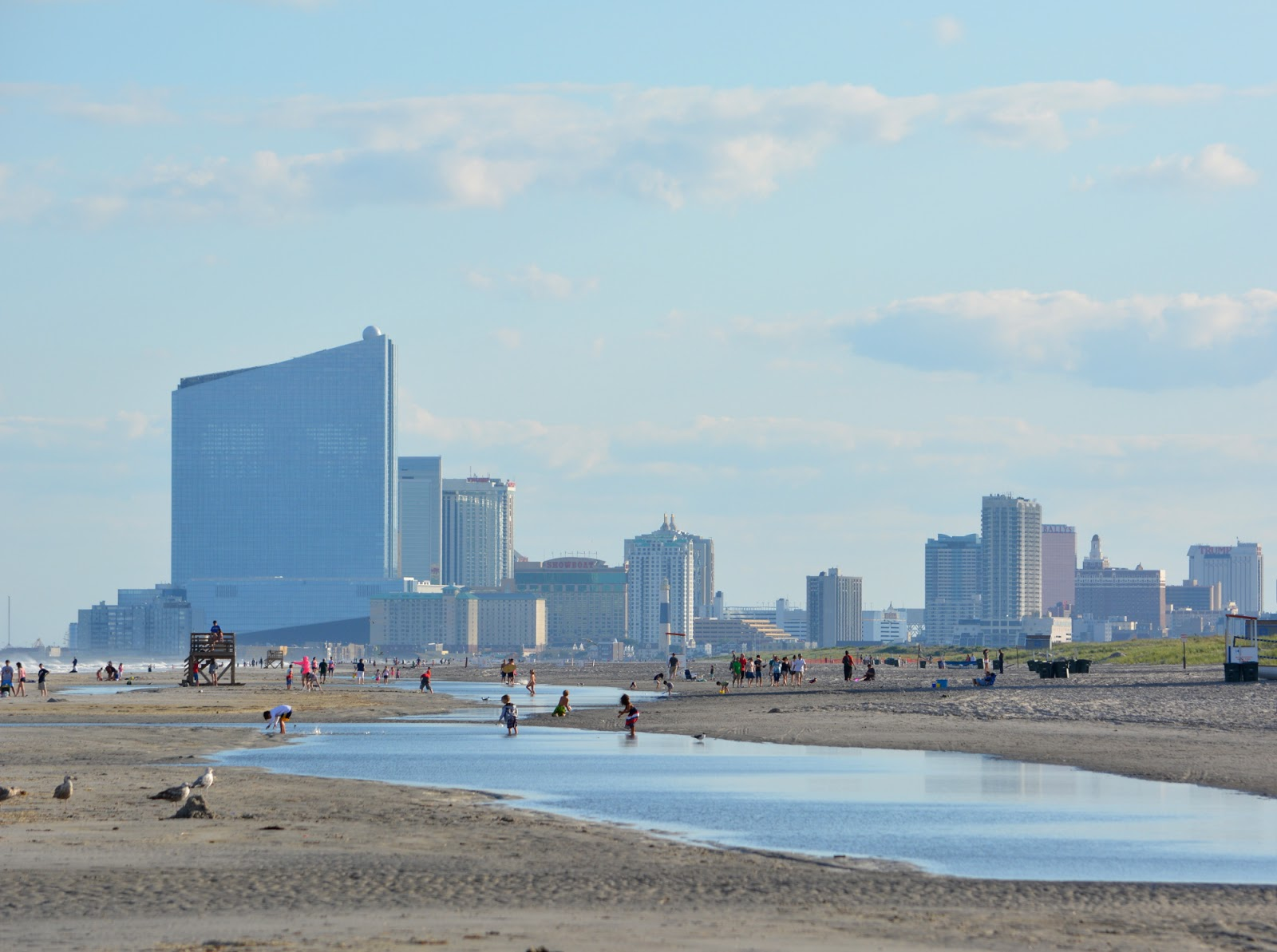cozy birdhouse | view of atlantic city from the beach