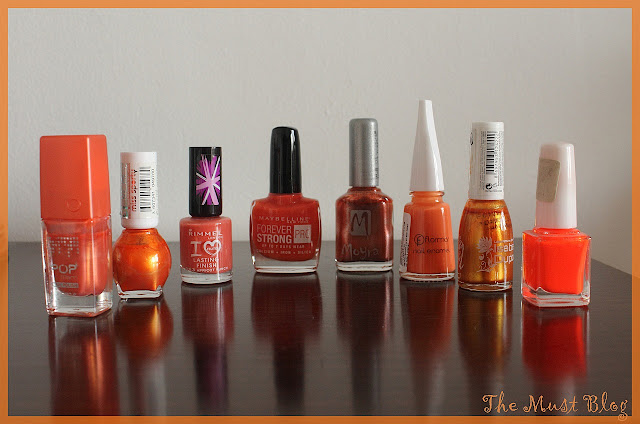 orange nail polish collection